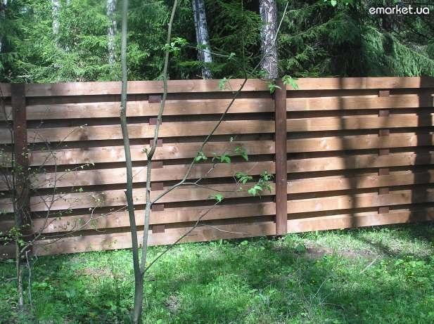 Забор деревянный горизонтальный своими руками