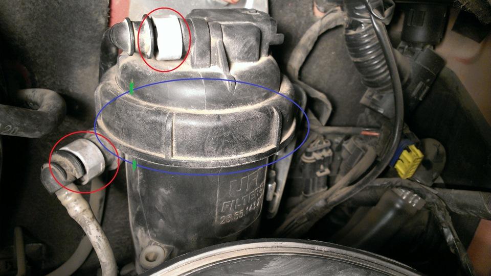 фиат дукато замена топливного фильтра