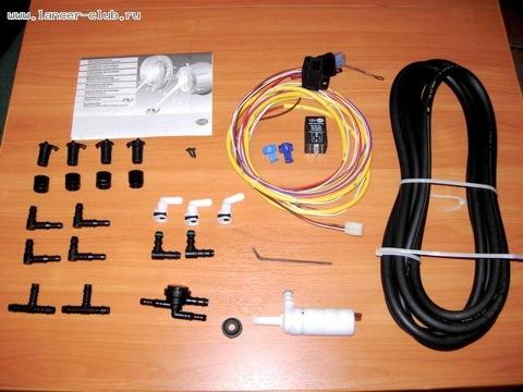 Был приобретен стационарный омыватель фар Hella, код 8WS 008 549-001.  Т.к. активация штатной кнопки омывателя мне...