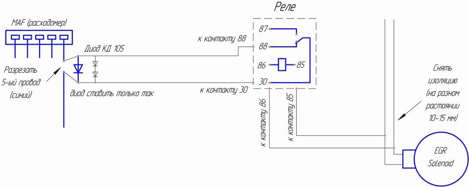 эмулятор егр на опель зафира фото схема