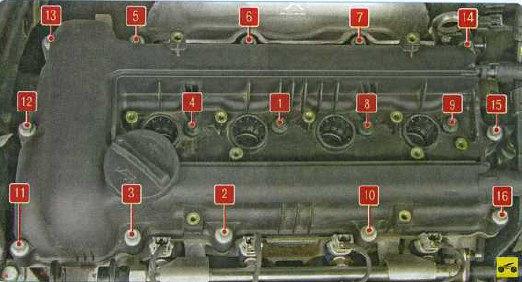 Хендай солярис замена прокладки клапанной крышки
