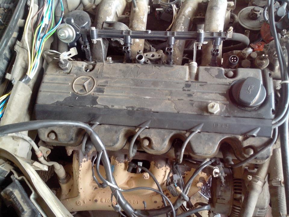 мерседес 102 проводка двигателя