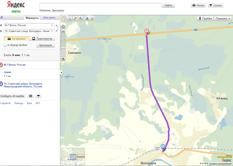 Карта проезда с Московского