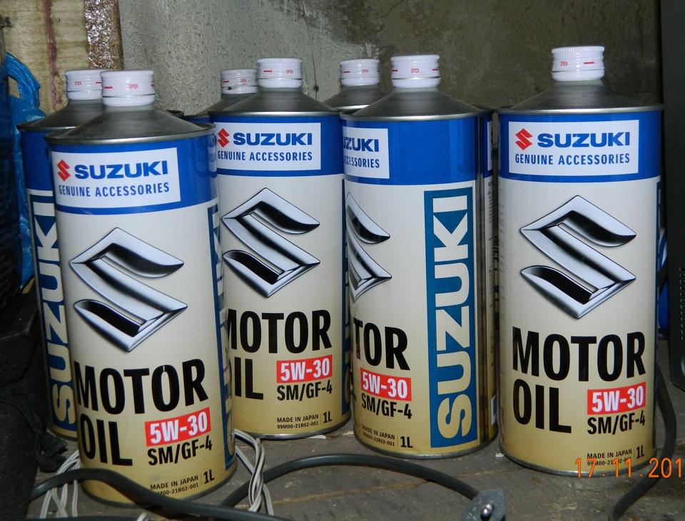 Замена масла в двигателе сузуки