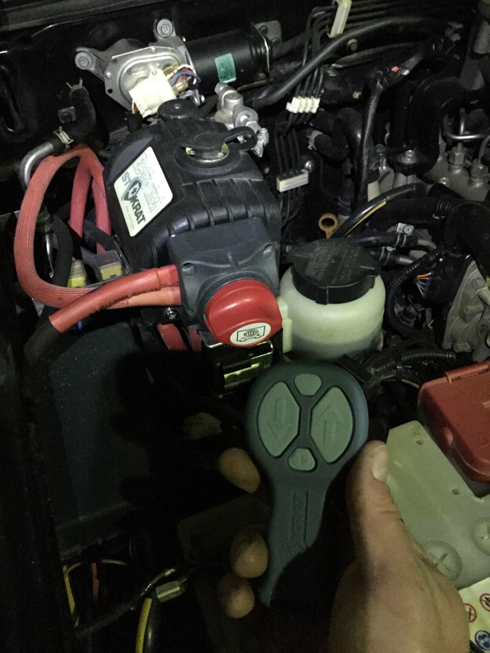 схема дистанционного управления на авто лебёдку