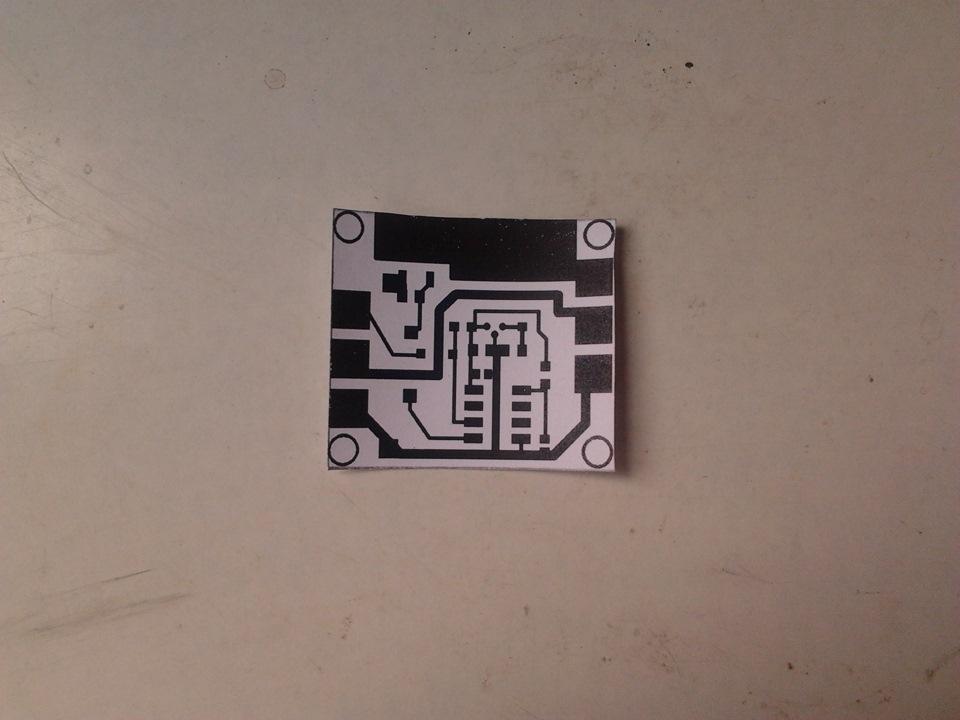 Печатаем плату на лазерном