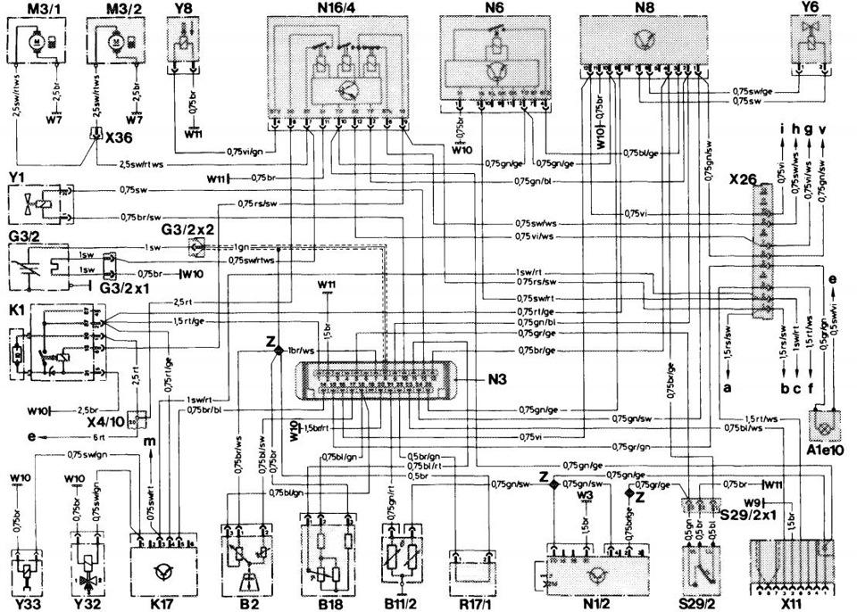 Схема ЭБУ 006 545 81 32 мотор