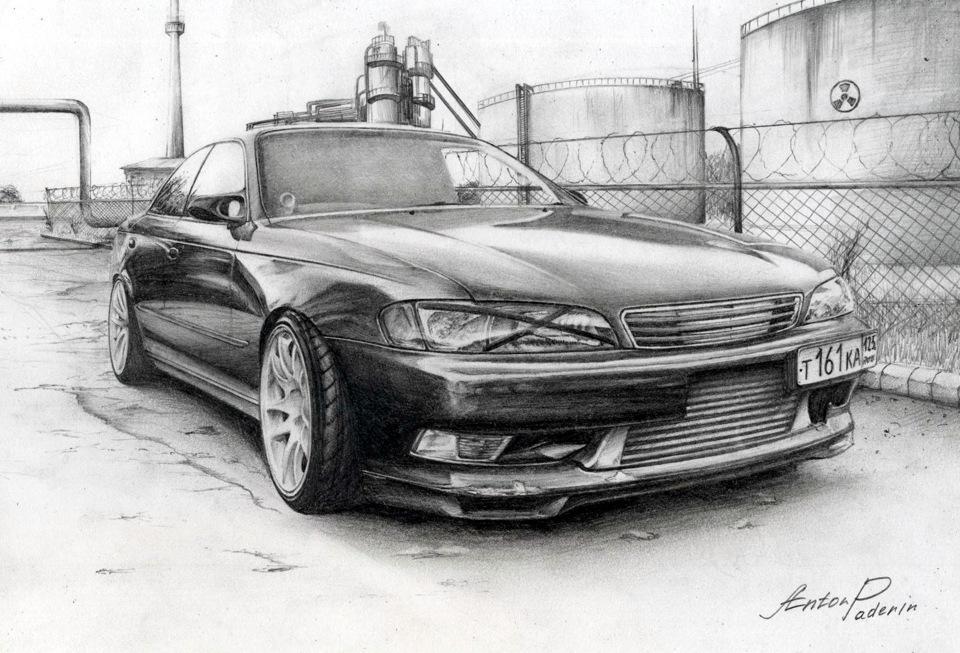 Тойота марк 2 рисунки