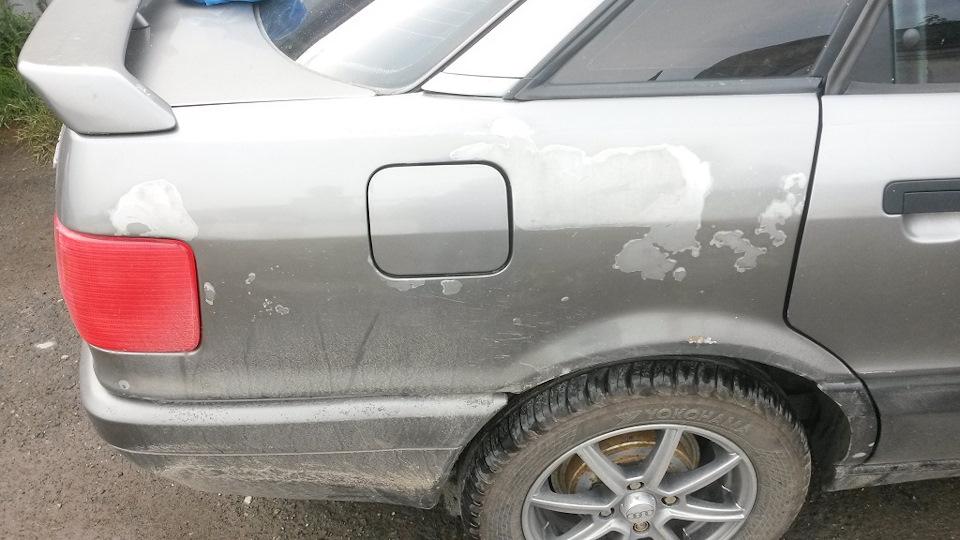 Частичная покраска крыла автомобиля