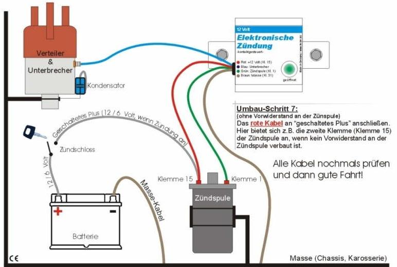 схема электронного зажигания зил 130
