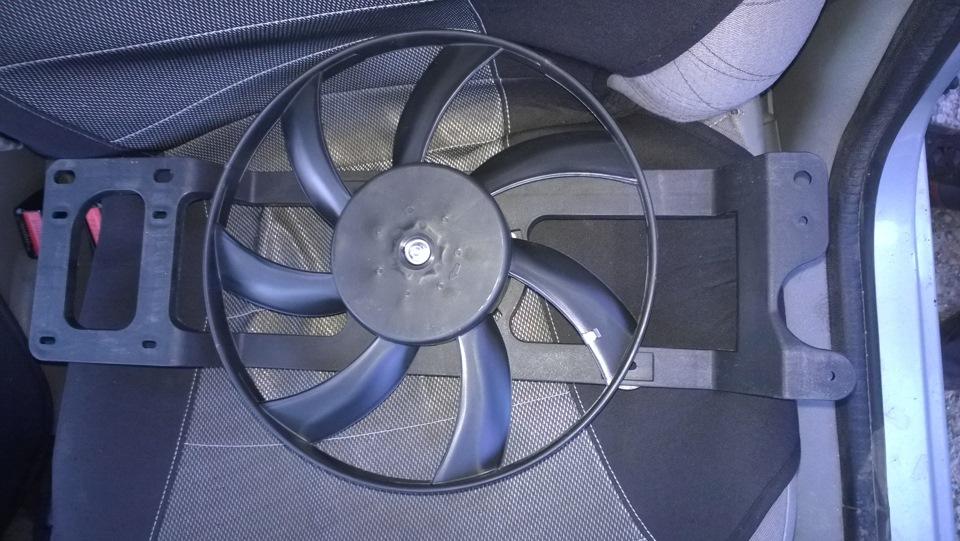 renault symbol медленно крутится вентилятор радиатора