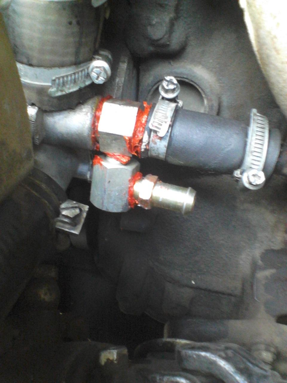схема подключения обогрева двигателя газ 406