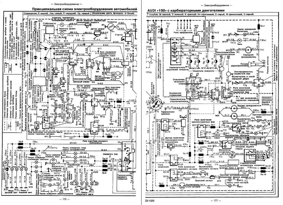 Цветная схема проводки AUDI