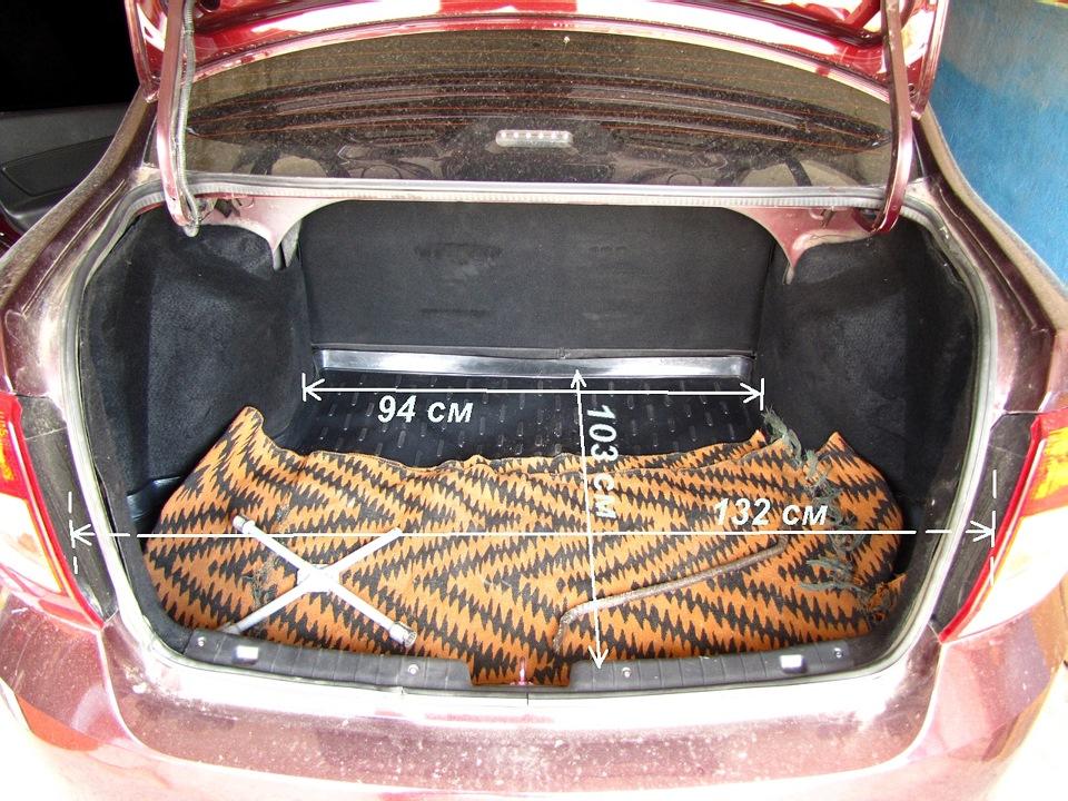 размеры багажного отделения chevrolet lacetti седан