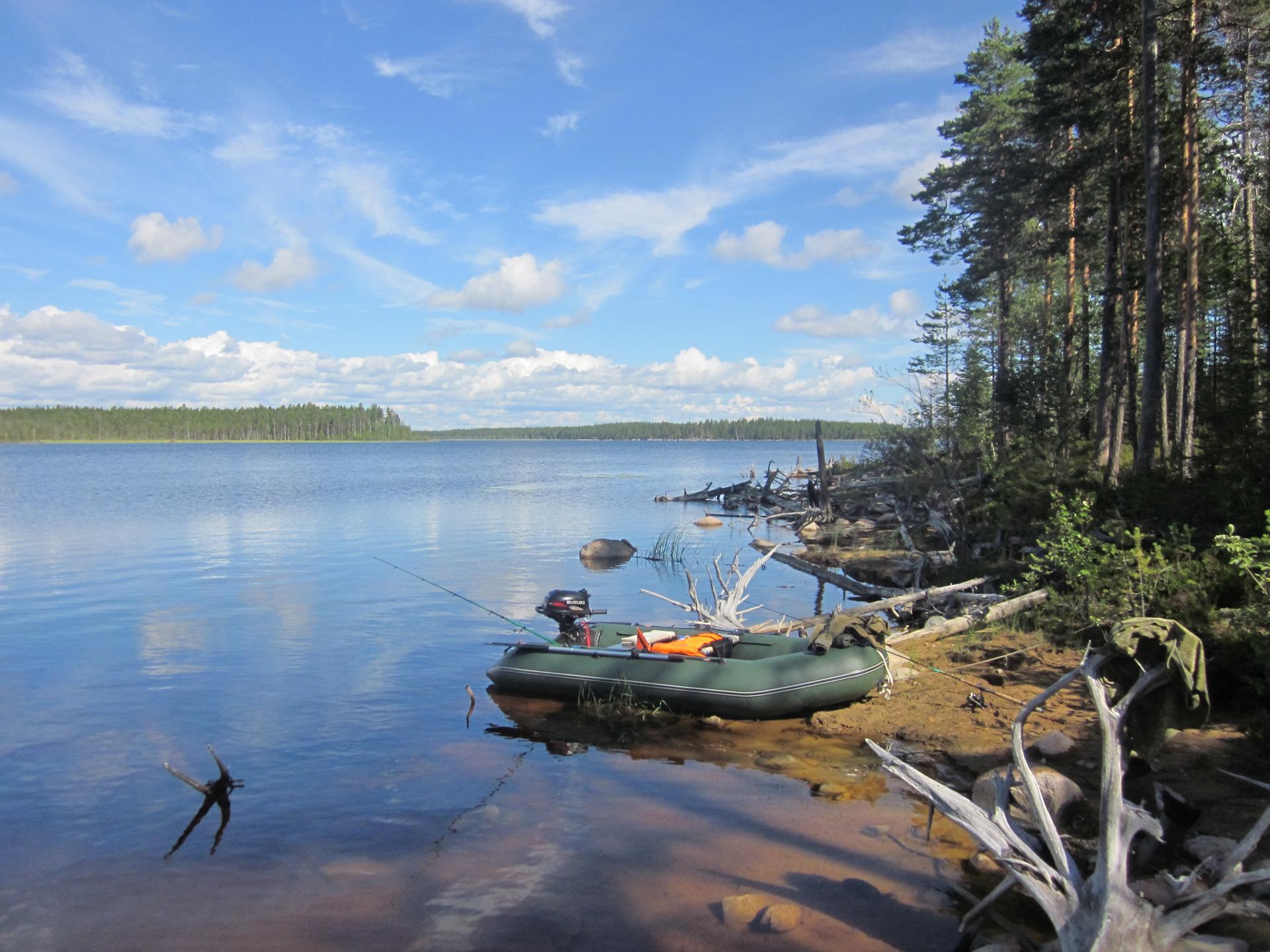 Места для рыбалки в Карелии дикарем