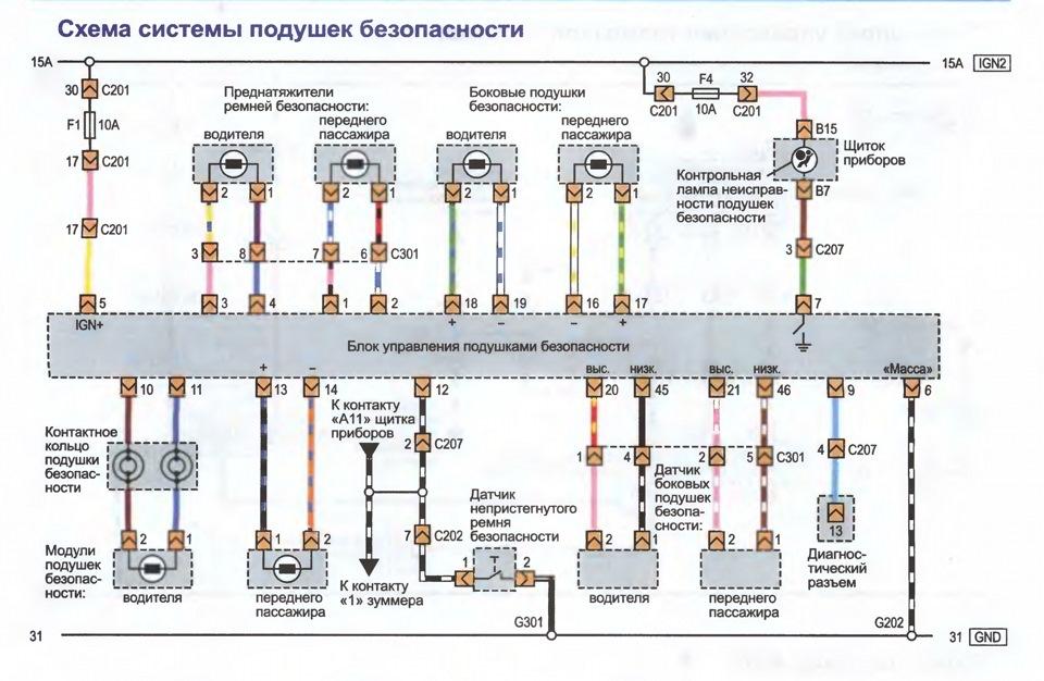 Электрическая схема шевроле вива