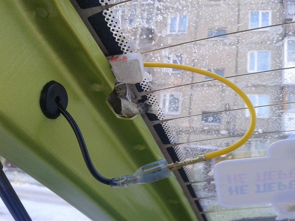 Ремонт клемм обогрева заднего стекла