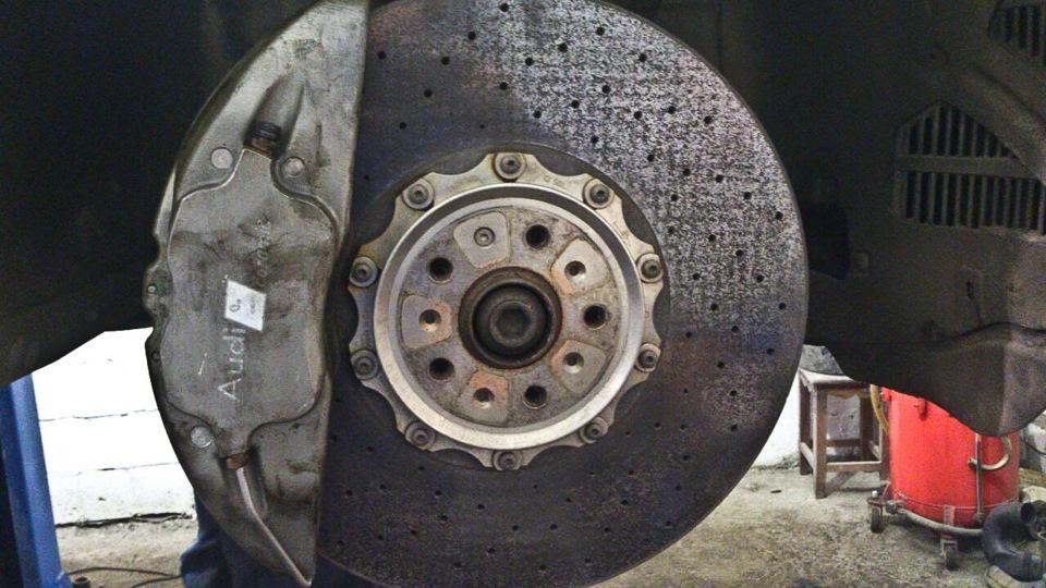 замена керамических тормозов lamborghini