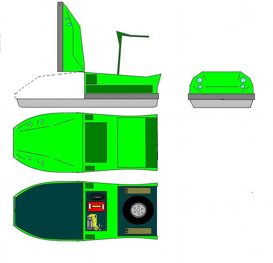 экспедиционный багажник с аэродинамический боксам