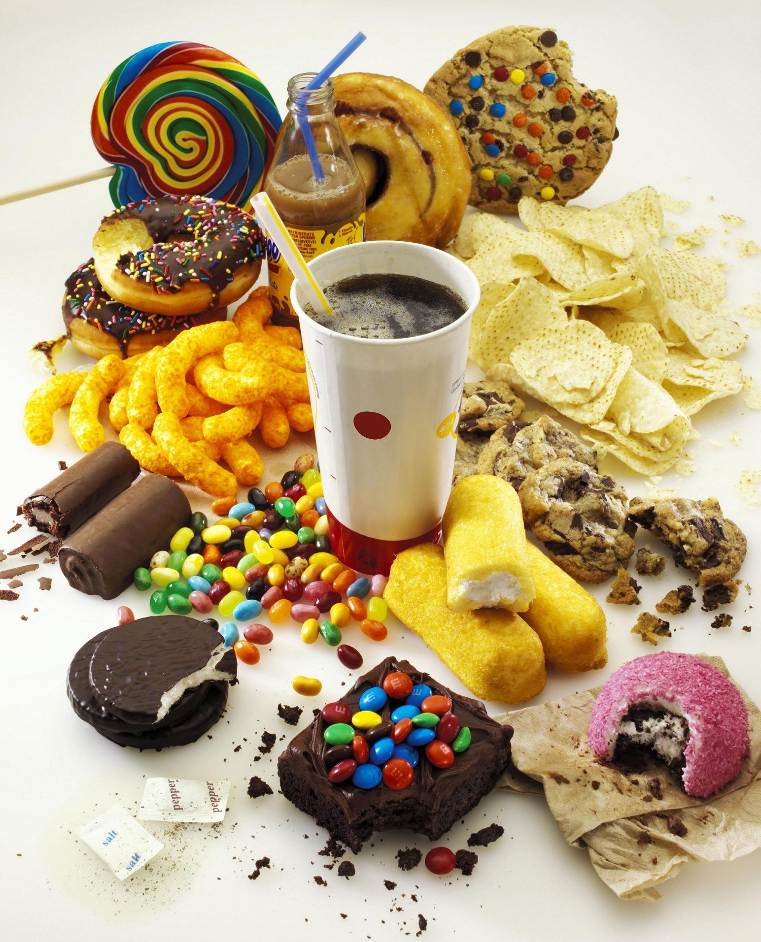 Днем, картинки вредная пища