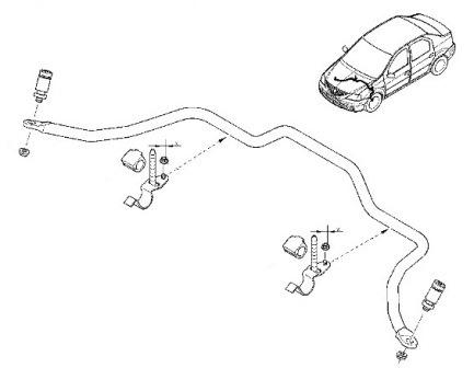 Схема стабилизатора передней