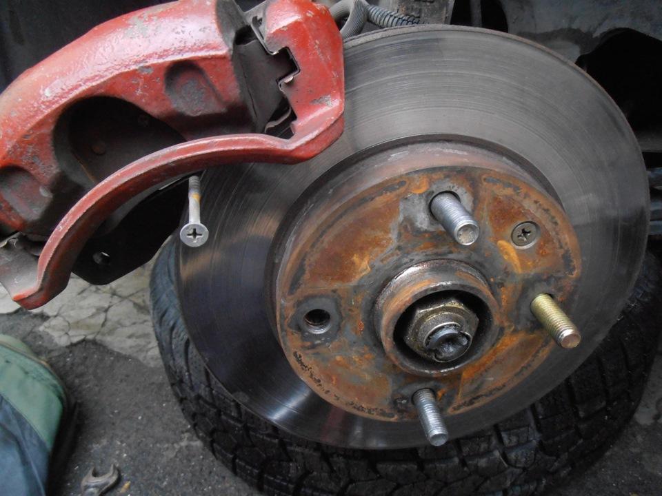 замена задней шпильки колеса chevrolet lacetti
