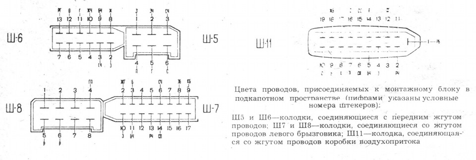 2a40768s 960 - Электросхема ваз 2109 монтажный блок