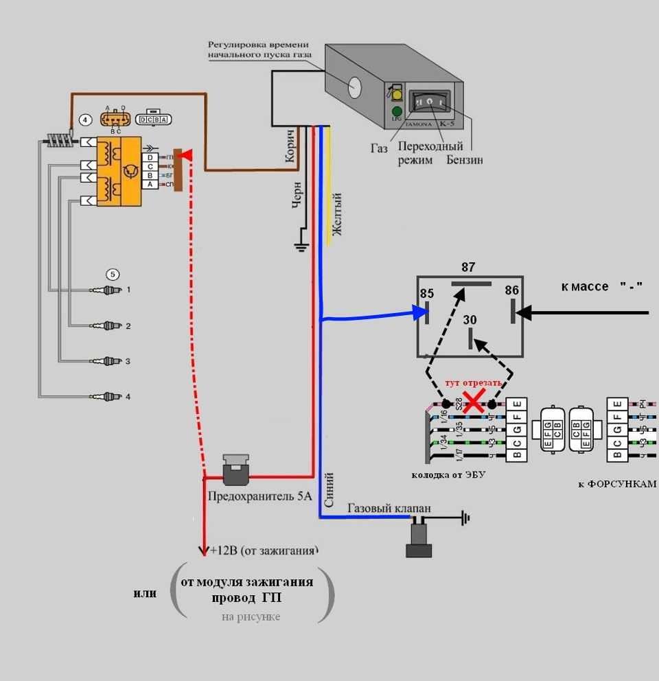 Схема установки гбо 2 поколения на инжектор своими руками