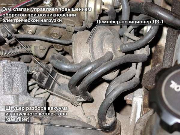 регулировка вакуумного карбюратора на двигатель 2e toyota
