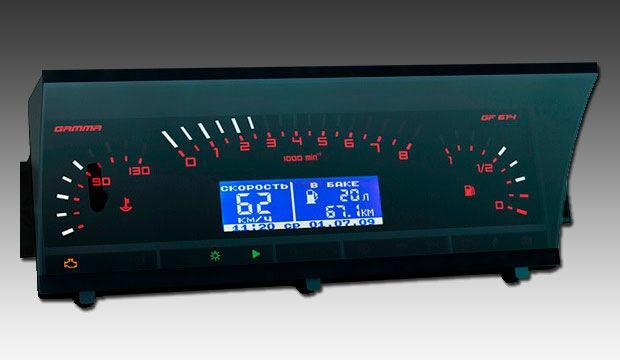 Комбинация приборов с маршрутным компьютером GAMMA GF 614 предназначен для контроля технического состояния и...
