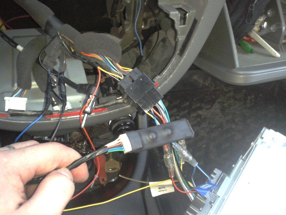 ГУ с левым пультом на руле