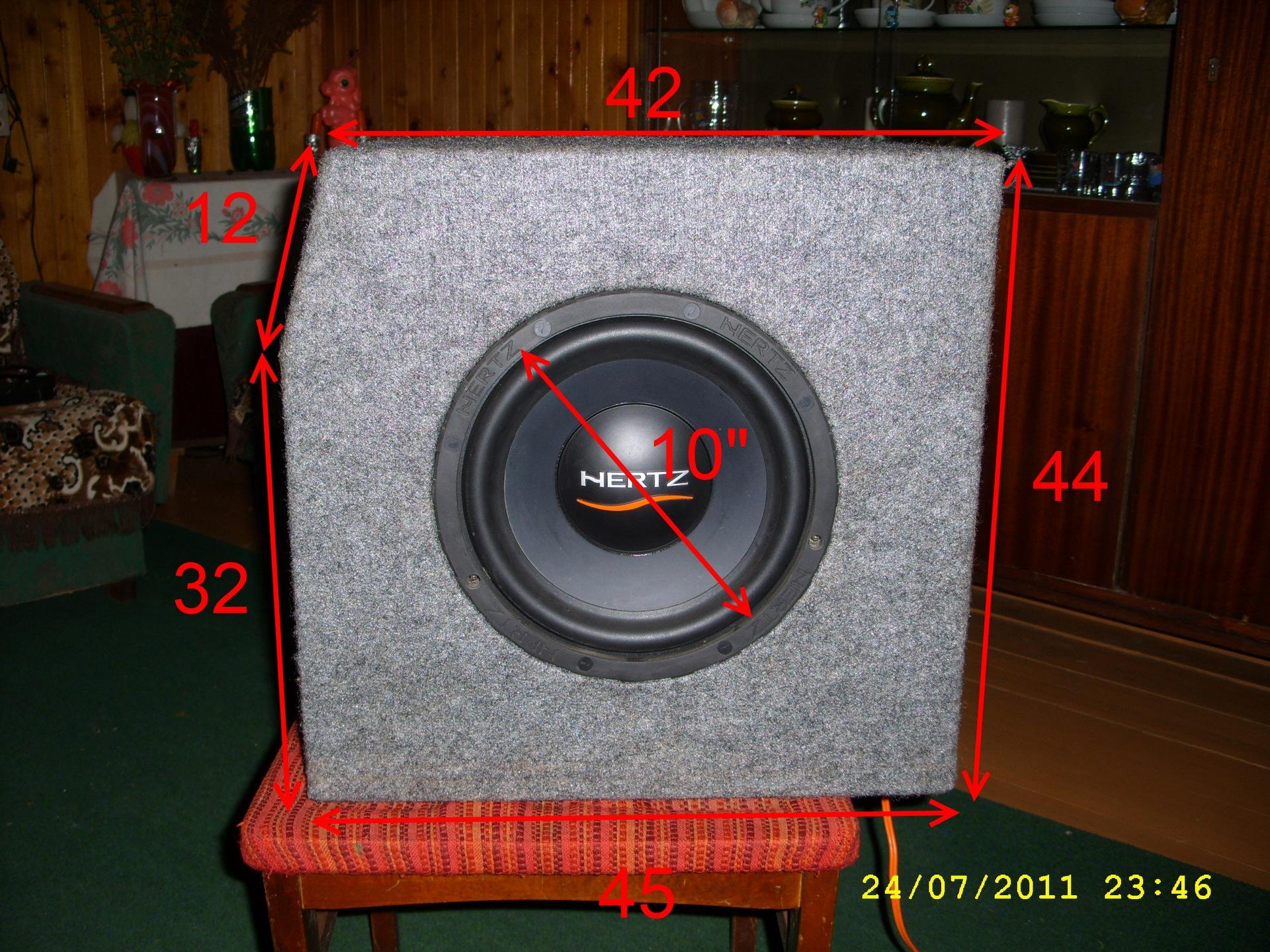 Размеры самодельного ящика под сабвуфер (стелс в крыло) - бортжурнал Лада 2113 Черный металлик 2009 года на DRIVE2