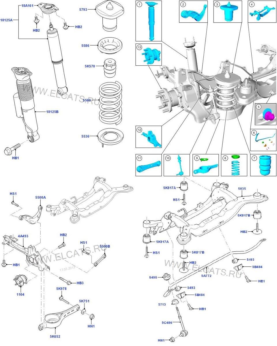 Запчасти форд фокус 2 передняя подвеска схема