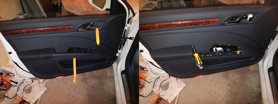 Как снимать обшивку передний двери шкода