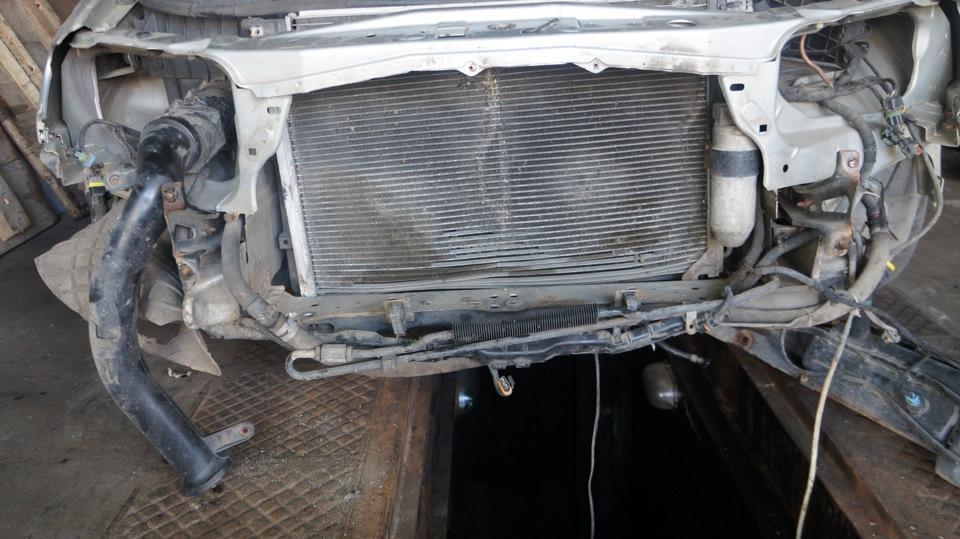 опель омега снятие радиатора кондиционера