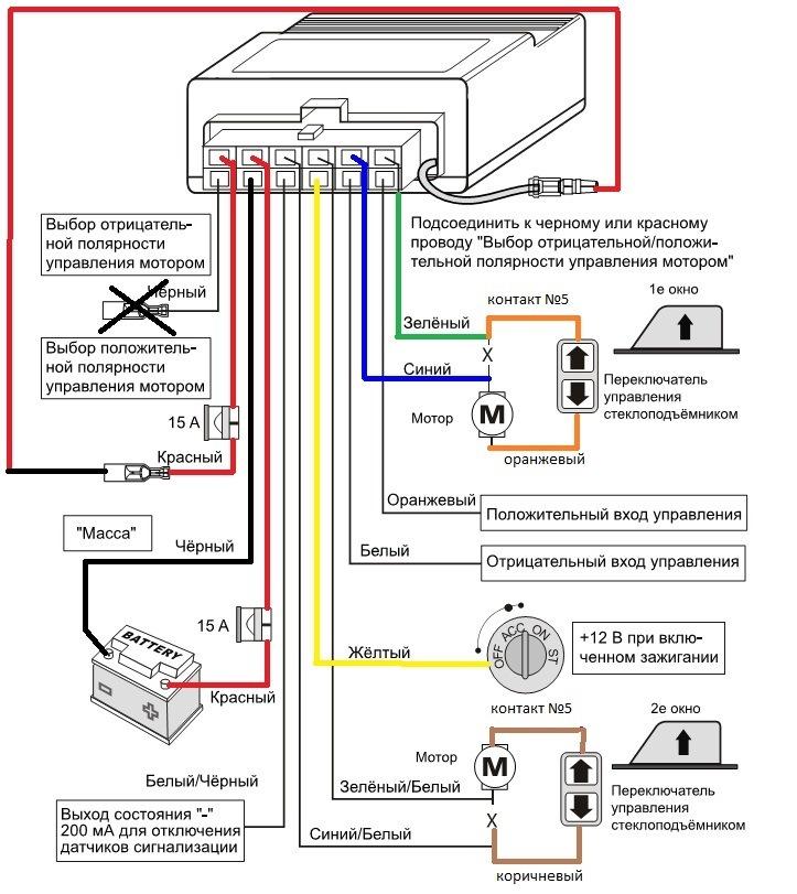 Схема подключения. Магнитолу