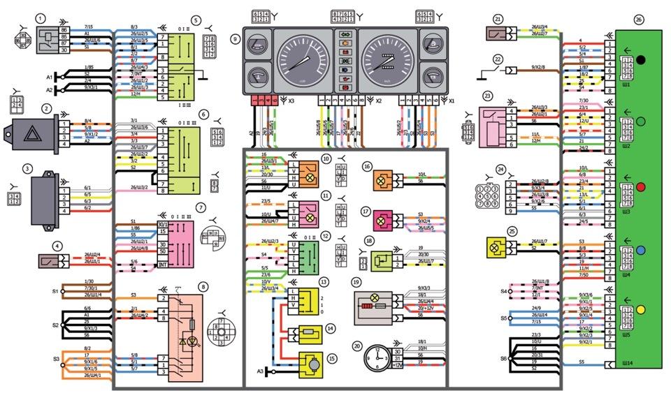 Схема электропроводки ваз