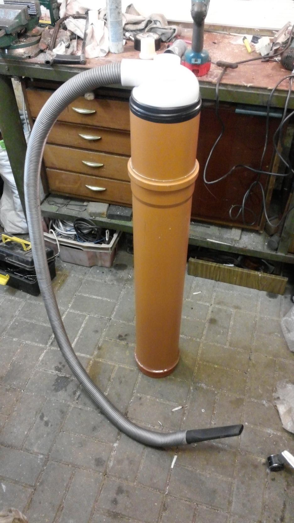Как сделать циклон для пылесоса из канализационных труб