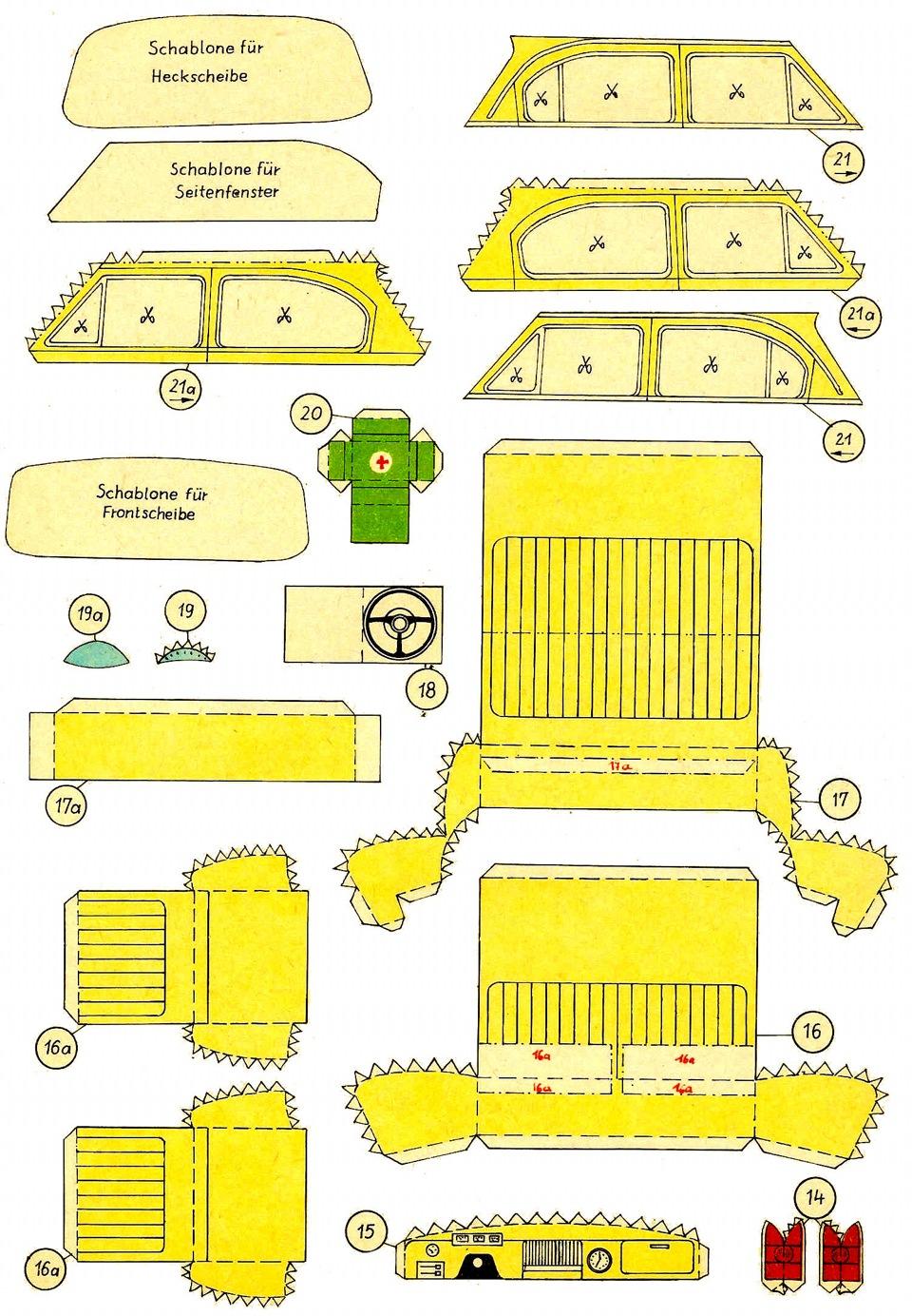 Модели из бумаги схемы развертки