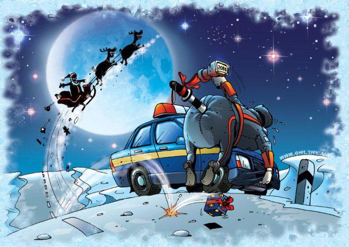 Картинки милиция с новым годом