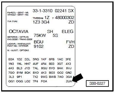 расшифровка заводских кодов на фольксваген