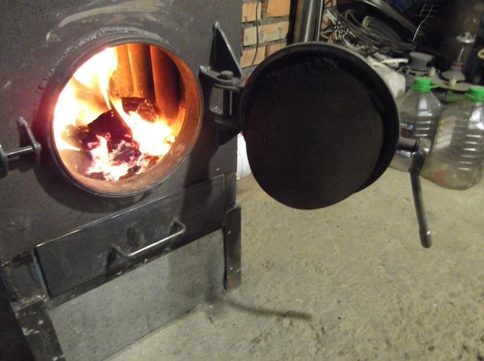 Как сделать печку на углях