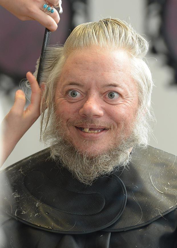 кончают на бороду: