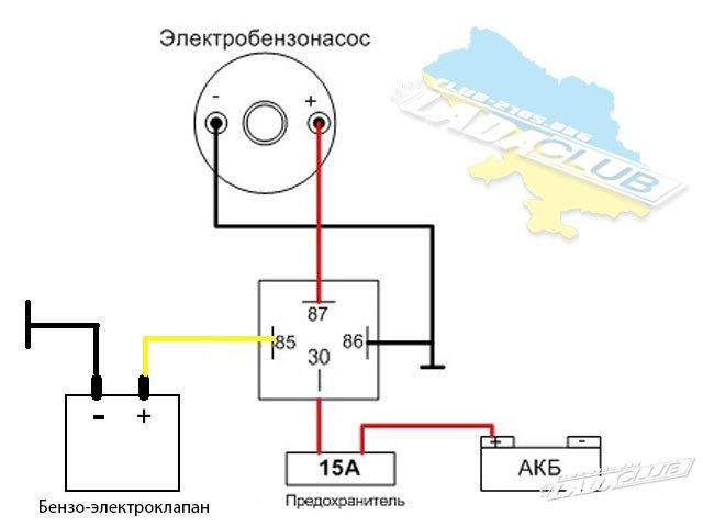 Как сделать реле для бензонасосу 173