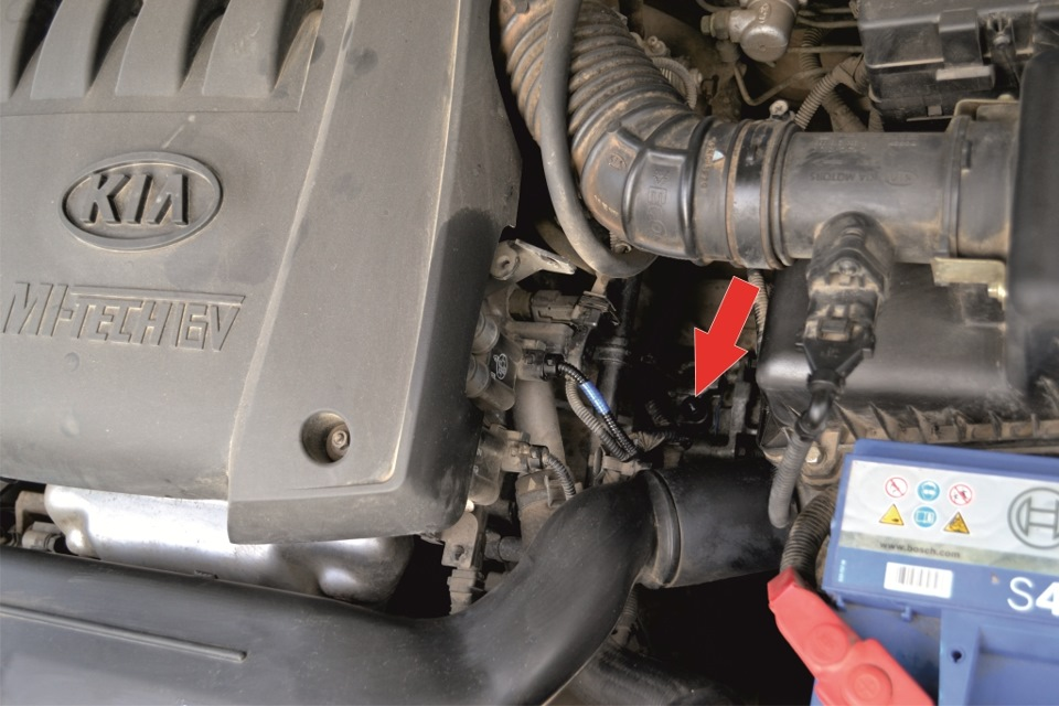 как проверить уровень масла в двигателе киа спектра