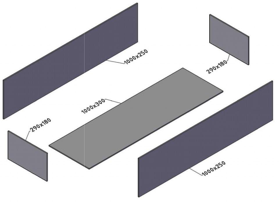 Мангал разборный  из металла чертежи фото 158