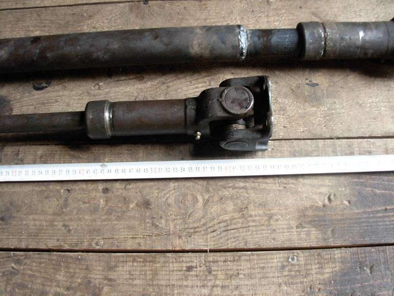 Задний кардан сделан из переднего кардана от Буханки.  Получилось...  Резал и варил сам в токарном, ибо за карданы...
