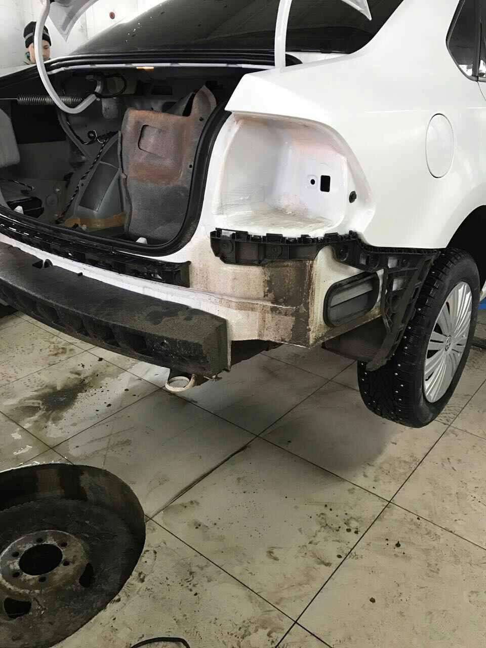 Установка парктроника на VW Polo Sedan бортжурнал. - drive2 66