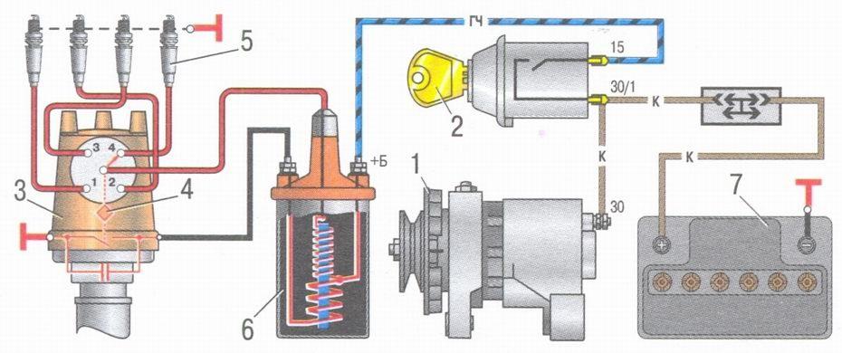 Лампа зарядки аккумулятора Фольксваге Пассат Б3  VW