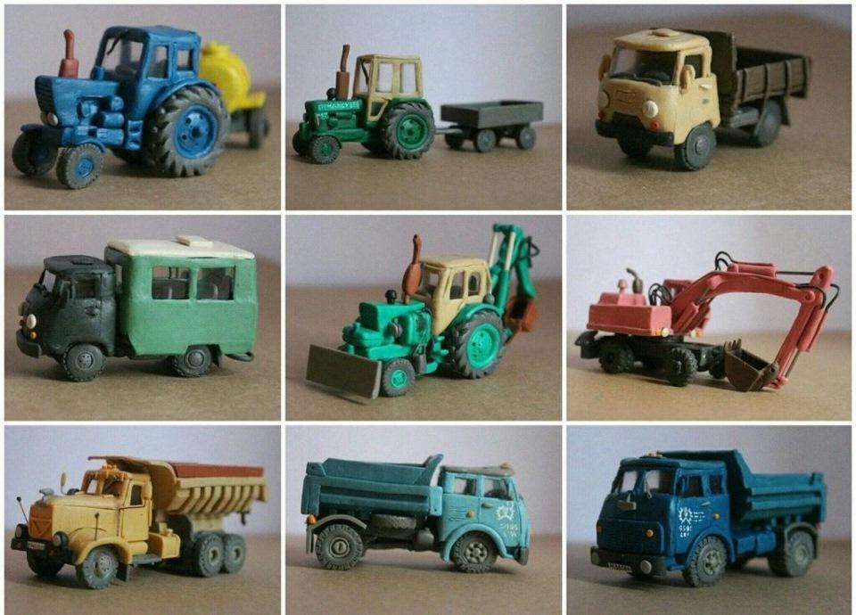 Как сделать трактор из пластилина